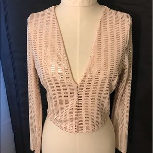 River Island sequin stretch top.
